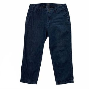 Jag Slim Fit Cropped Stretch Dark Wash Jeans